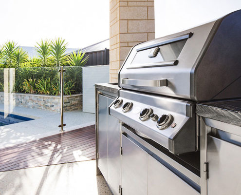 A bespoke outdoor barbecue