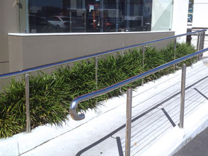 Stainless steel railing manufactured by Metro Steel Services