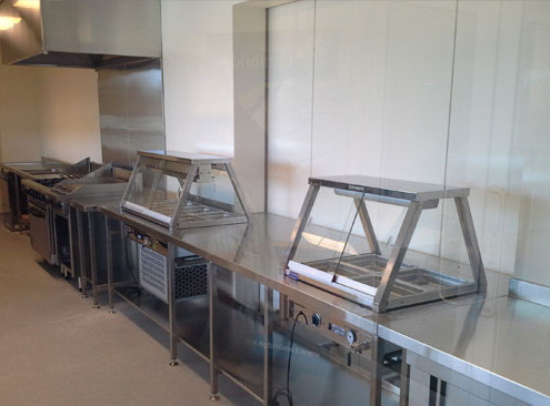 Stainless steel kitchen manufactured for the Perth Netball Association