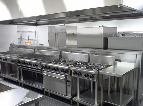 Stainless steel cooktops & rangehood manufactured by Metro Steel Services & installed in the Joondalup Function Centre