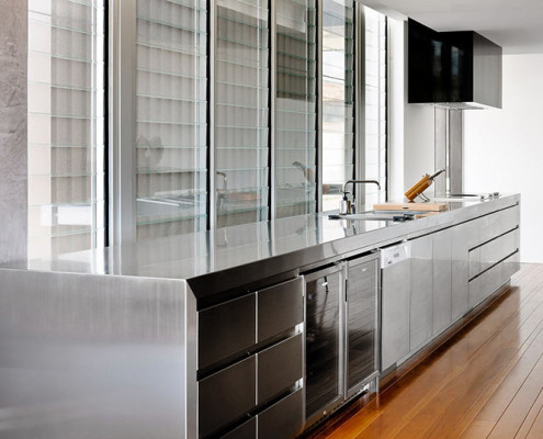Stainless steel benchtop & cabinets in a Perth kitchen