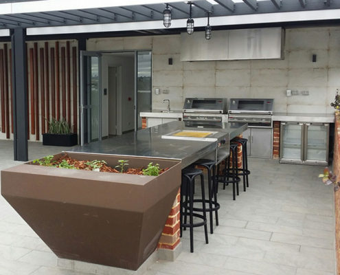 Custom outdoor barbecue area